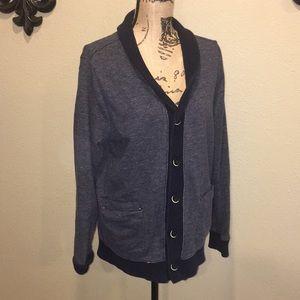 Adam Levine button up longsleeve sweater sz L